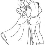 Cinderella And Prince Charming Dancing Coloring Pages