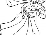 Cinderella And Prince Charming Run Coloring Pages