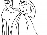 Cinderella And Prince Charming Wedding Dancing Coloring Pages