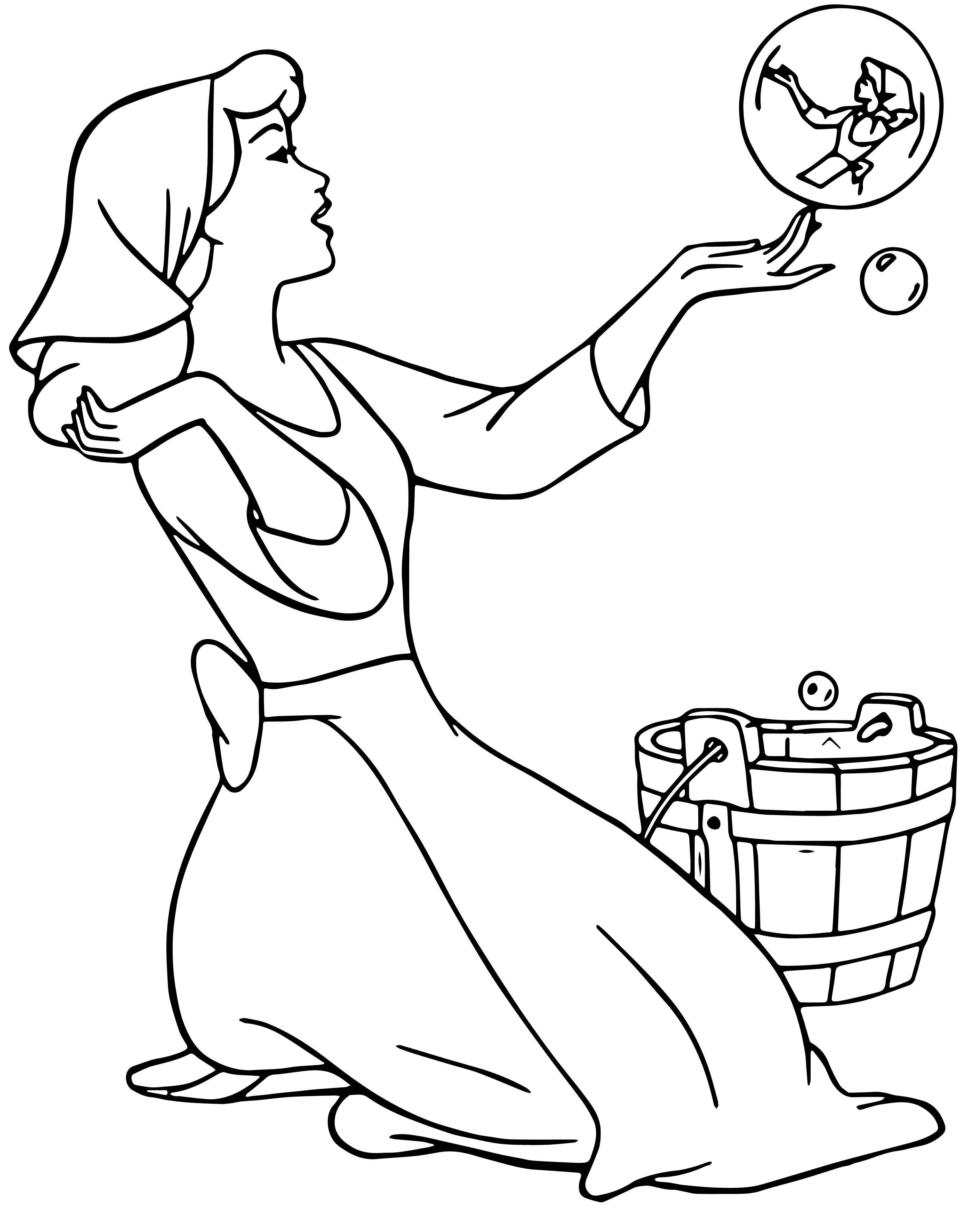 Cinderella Bubble Coloring Pages