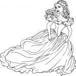 Cinderella Midnight Escape Coloring Page