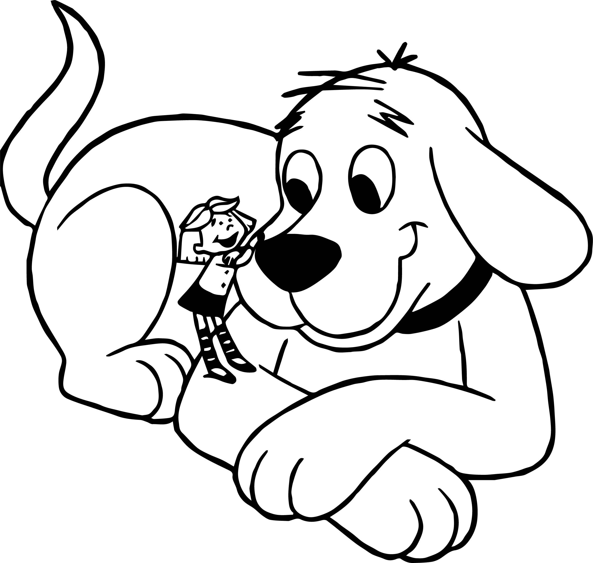 Clifford the big red and small girl dog coloring page for Clifford coloring pages