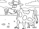 Cow Cartoon Funny Coloring Page