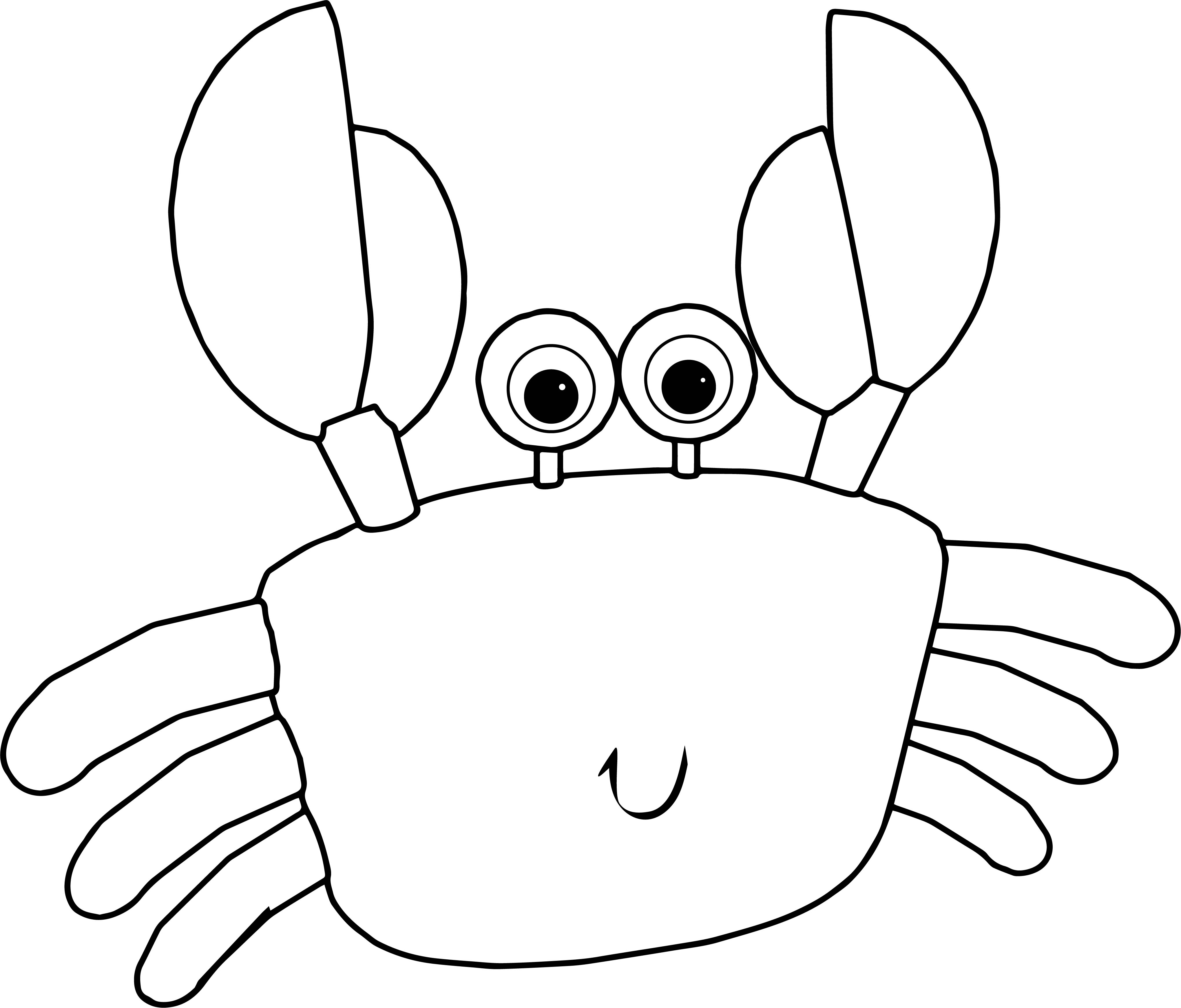 Crab Cartoon Coloring Page