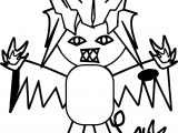 Creature Joke Boy Coloring Page