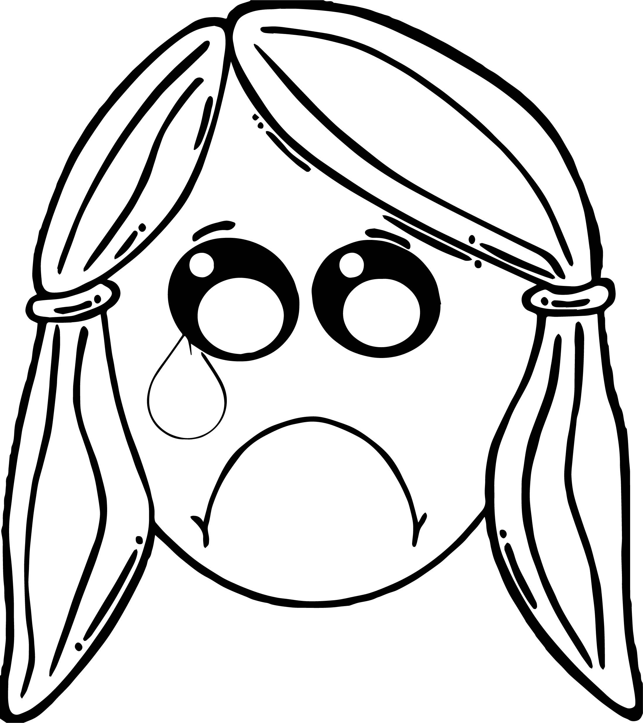 Cry Girl Boy Face Coloring Page Wecoloringpage