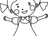 Cute Child Girl Coloring Page