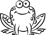 Cute Front Frog Coloring Page