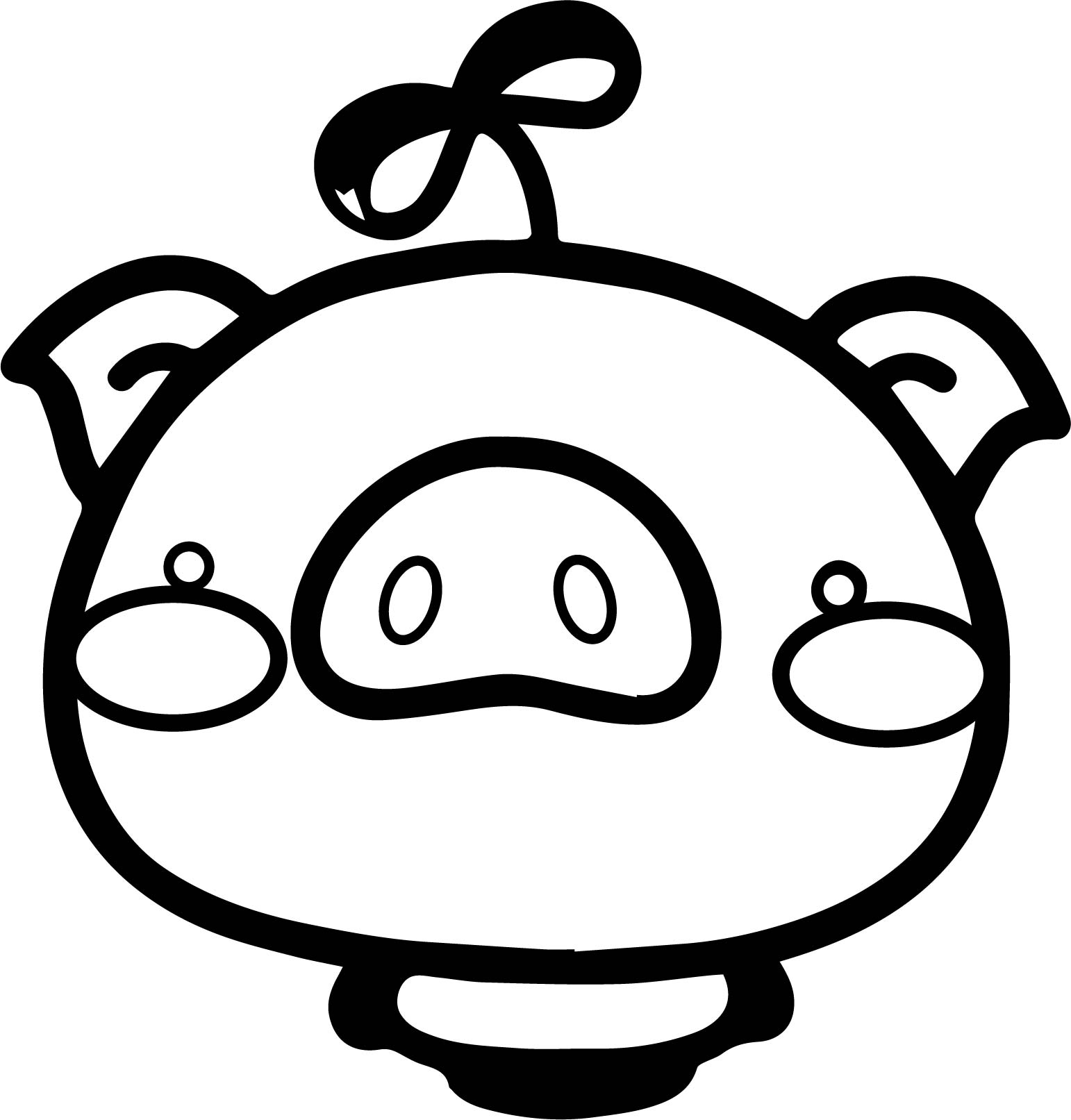 Cute pig cartoon coloring page for Cute piglet coloring pages