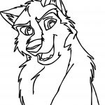 Dakota Balto Base Wolf Coloring Page