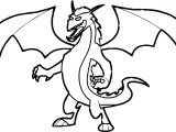 Dark Dragon Coloring Page