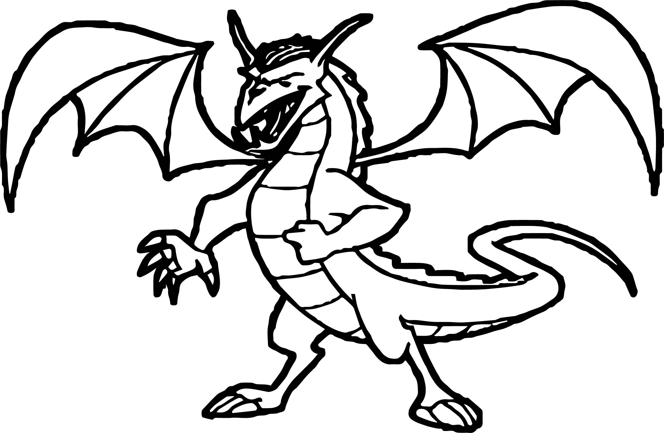 Dark Dragon Old Coloring Page