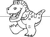 Dinosaur Cartoon Funny Coloring Page