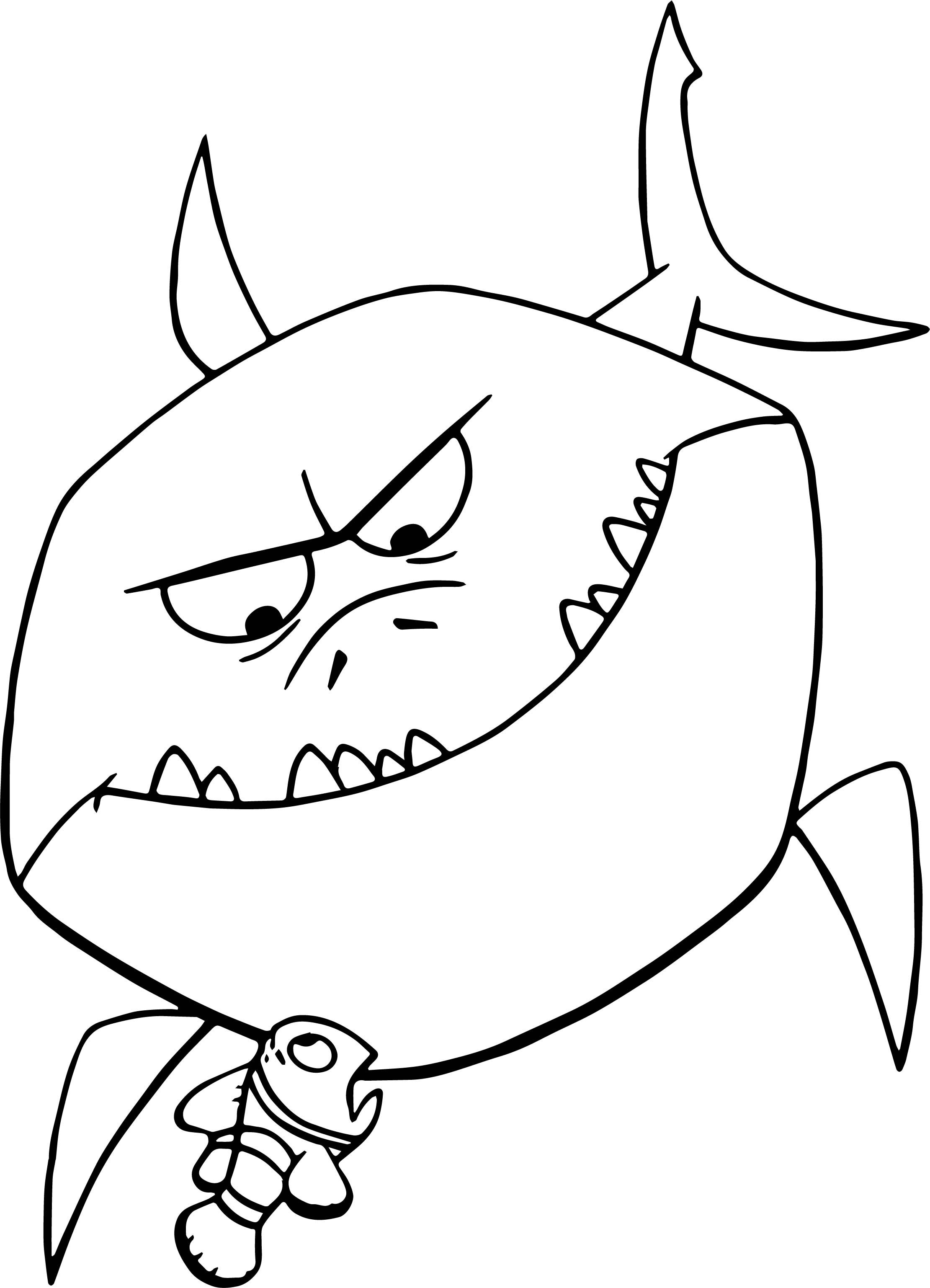Disney Finding Nemo Bruce Shark Coloring Pages ...