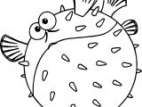Disney Finding Nemobloat Fat Fish Coloring Pages
