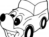 Dog Car Coloring Page