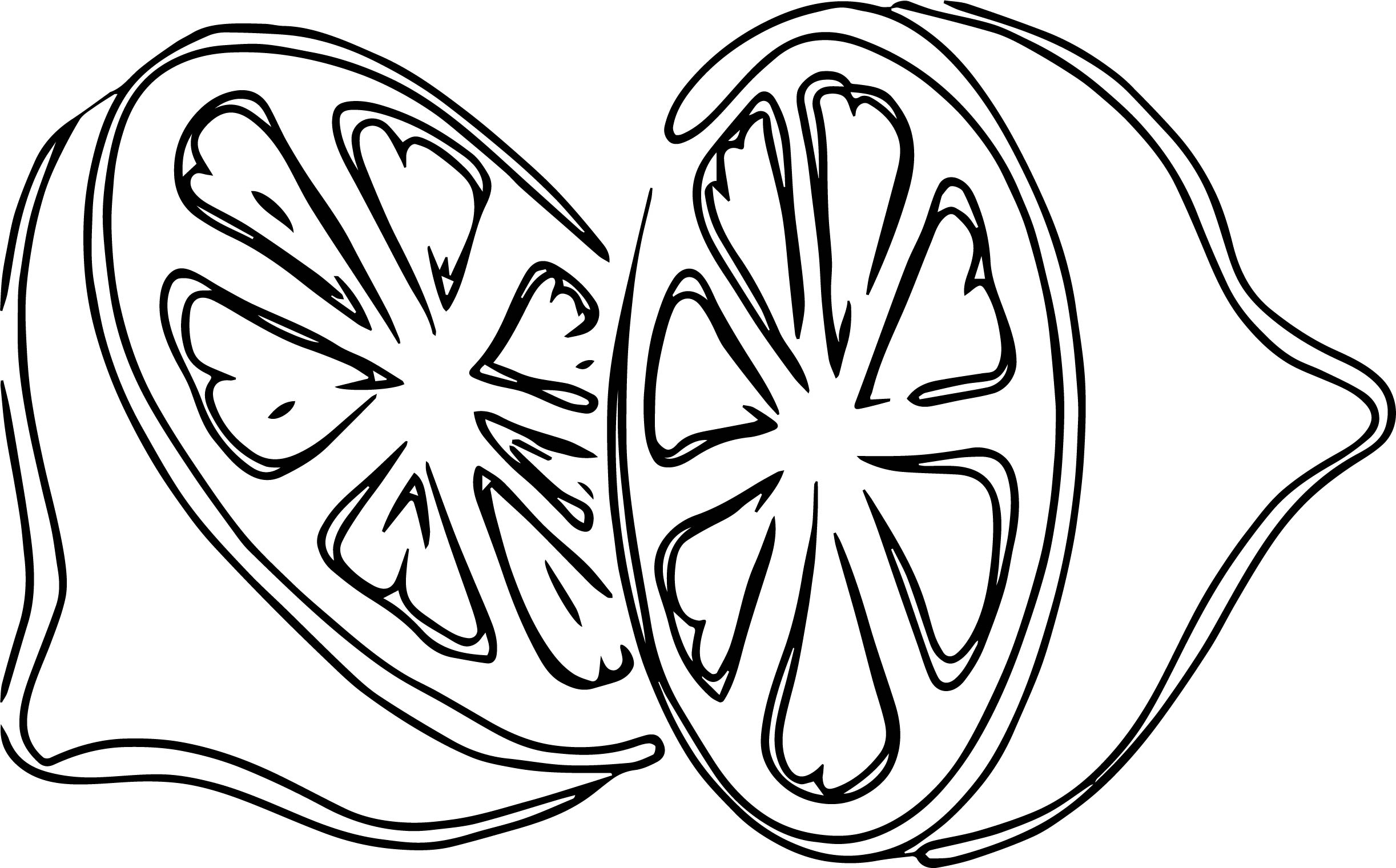 Double Lemon Coloring Page