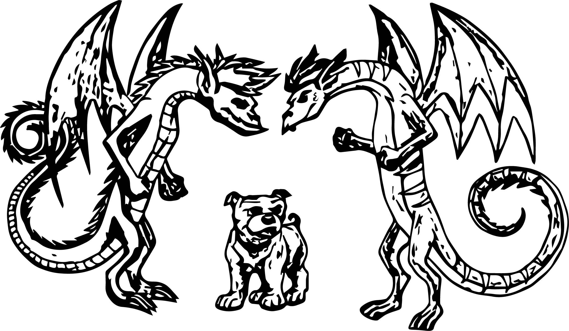 Dragon Challenge Jake Vs Gregory Coloring Page