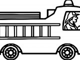 Drive Fire Truck Coloring Page
