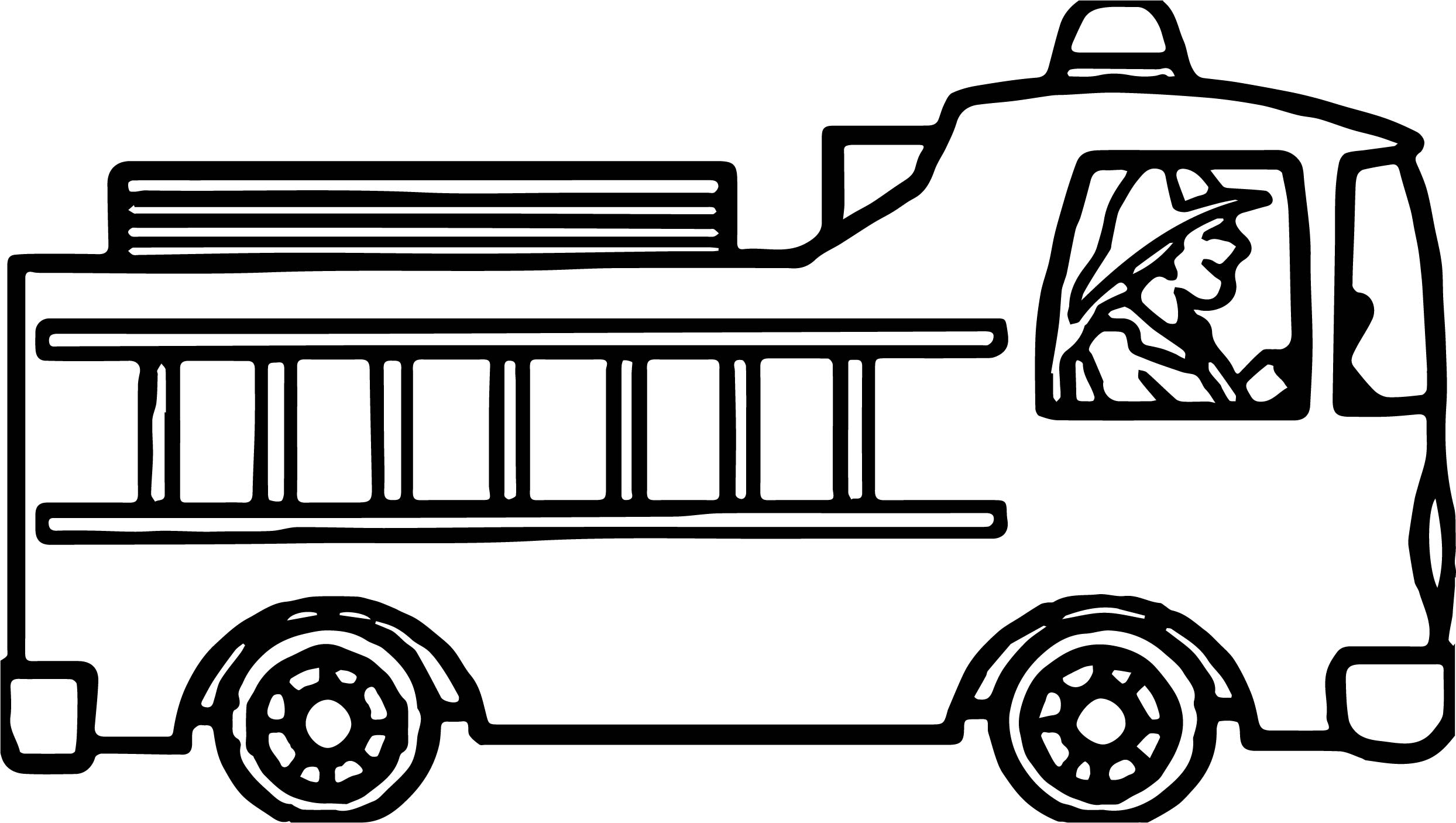 drive fire truck coloring page - Fire Truck Coloring Page