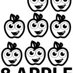 Eight Apple Coloring Pages