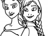 Elsa And Anna Forever Coloring Page