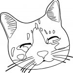 Face Cat Coloring Page