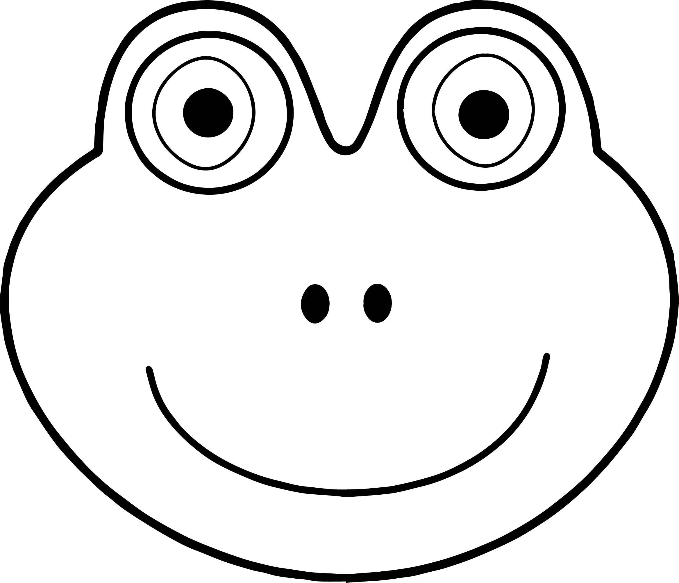 Face Frog Coloring Page