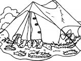 Family Camping Coloring Page
