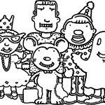Family Characters Coloring Page