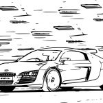 Fast Car Coloring Page