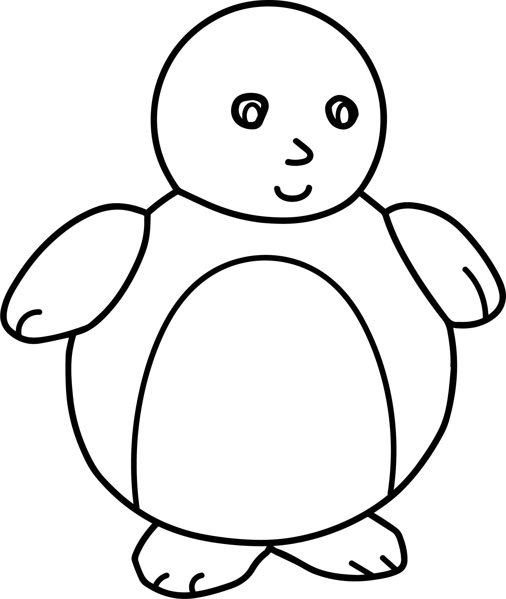 Fat Baby Penguin Coloring Page