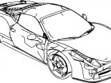 Ferrari 458 Damage Coloring Page