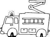Fire Truck Alarm Coloring Page