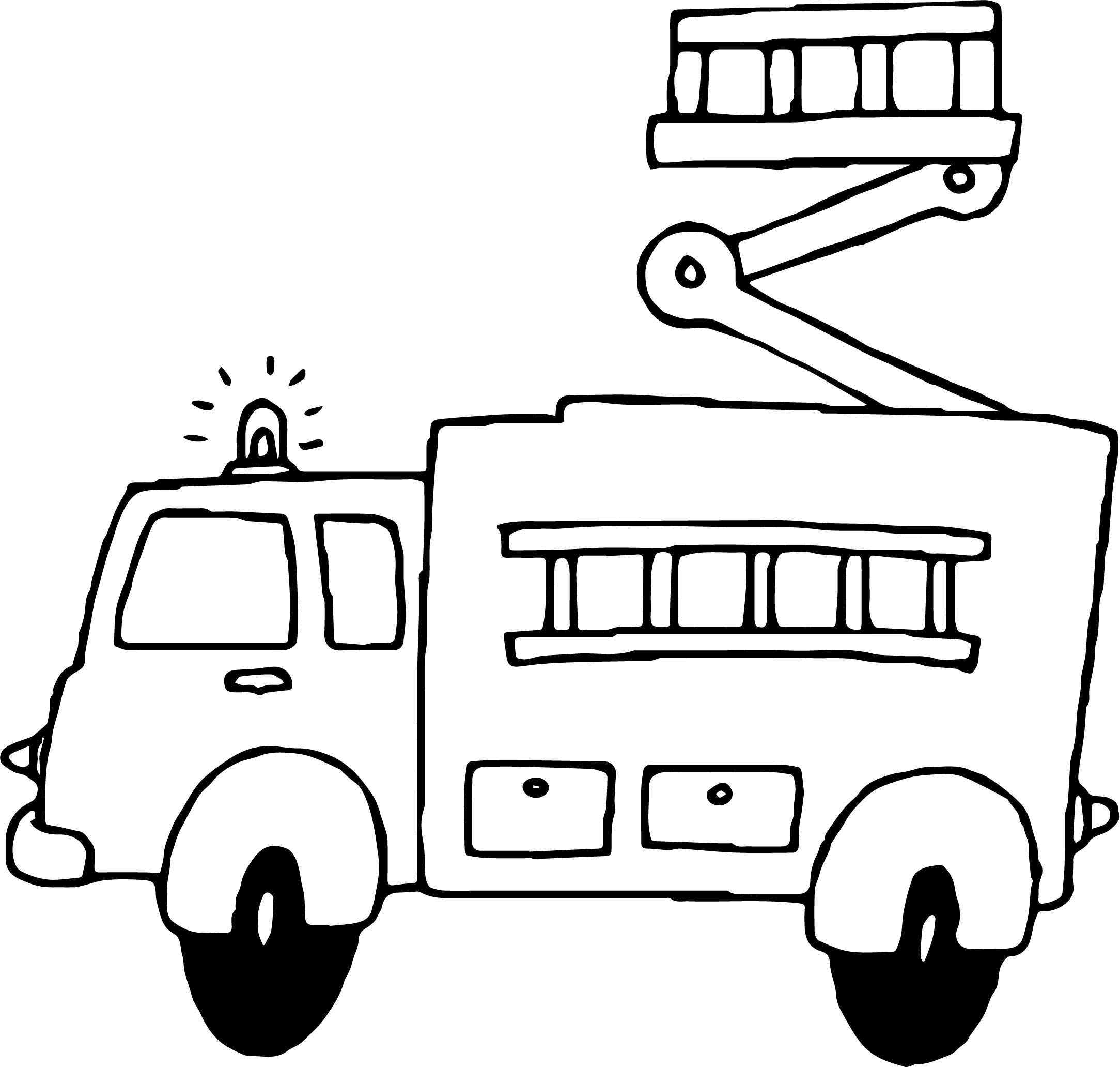 fire alarm coloring coloring pages