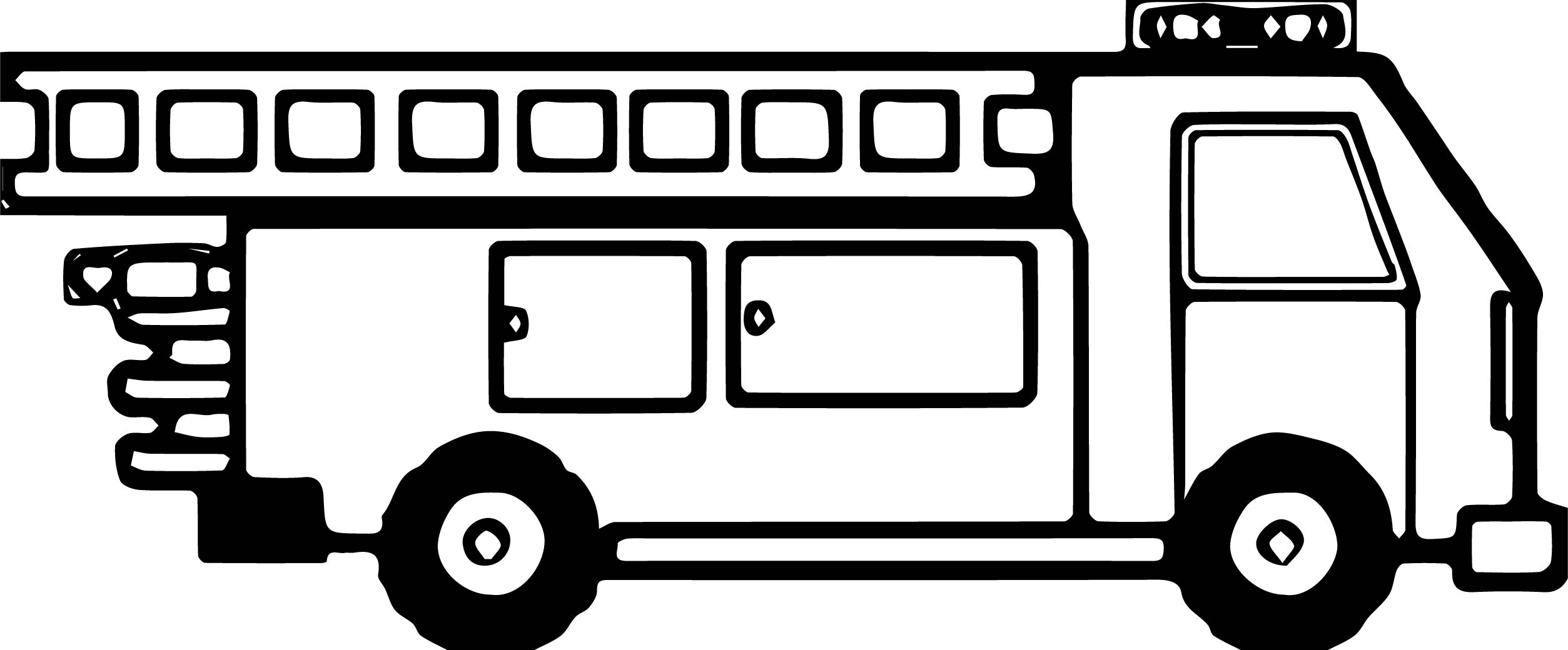 Fire Truck Box Side Coloring Page