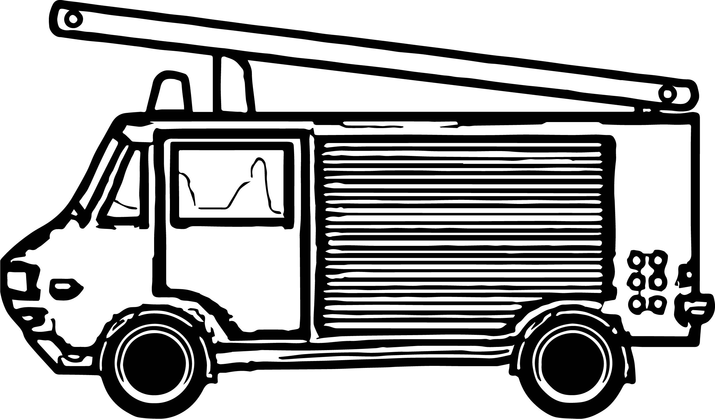 Fire Truck Different Coloring Page