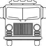 Fire Truck Front Coloring Page