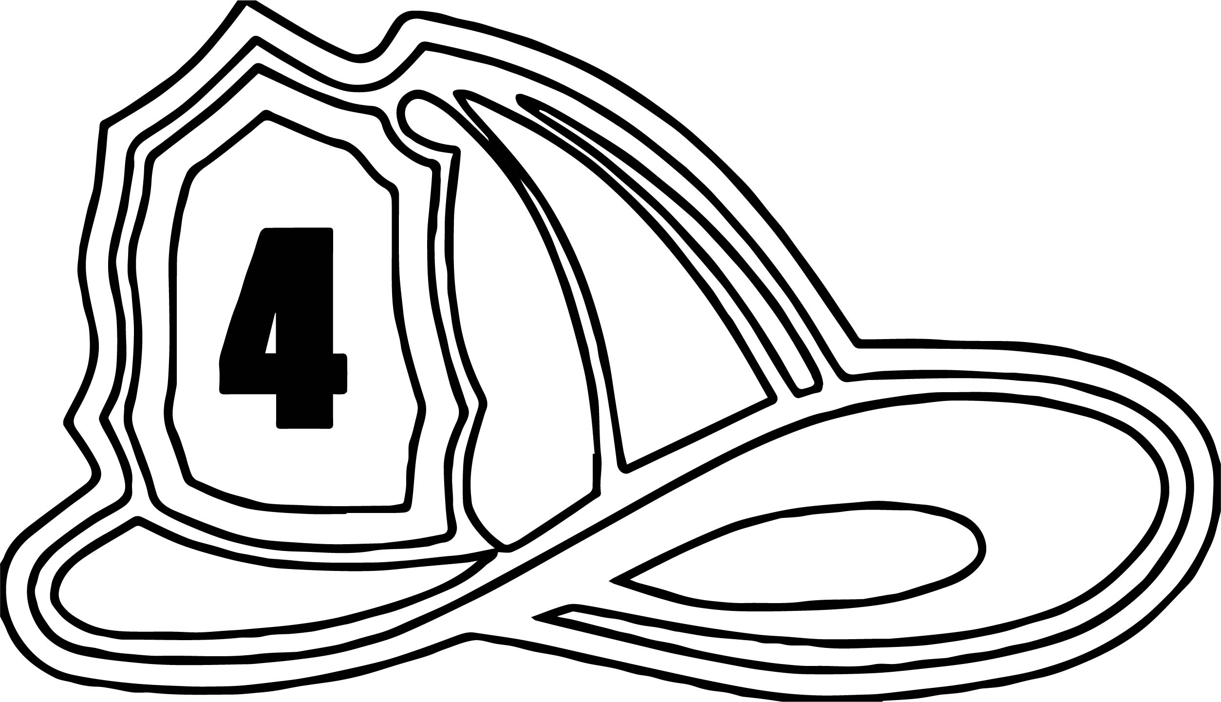 Fire Truck Hat Coloring Page | Wecoloringpage.com