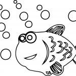 Fish Bubble Coloring Page