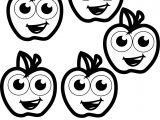Five Apple Coloring Pages