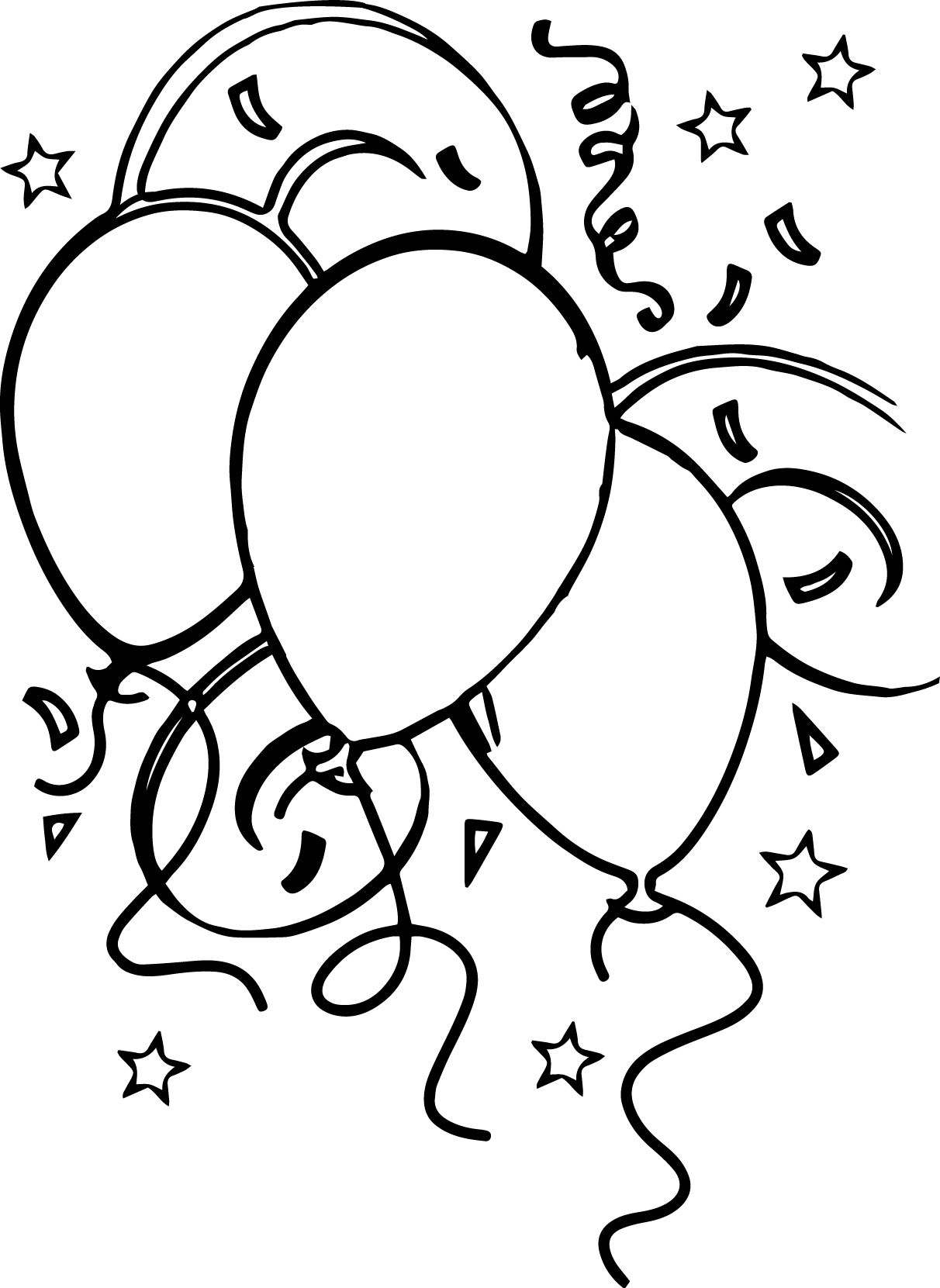 For Children Balloon Coloring Page
