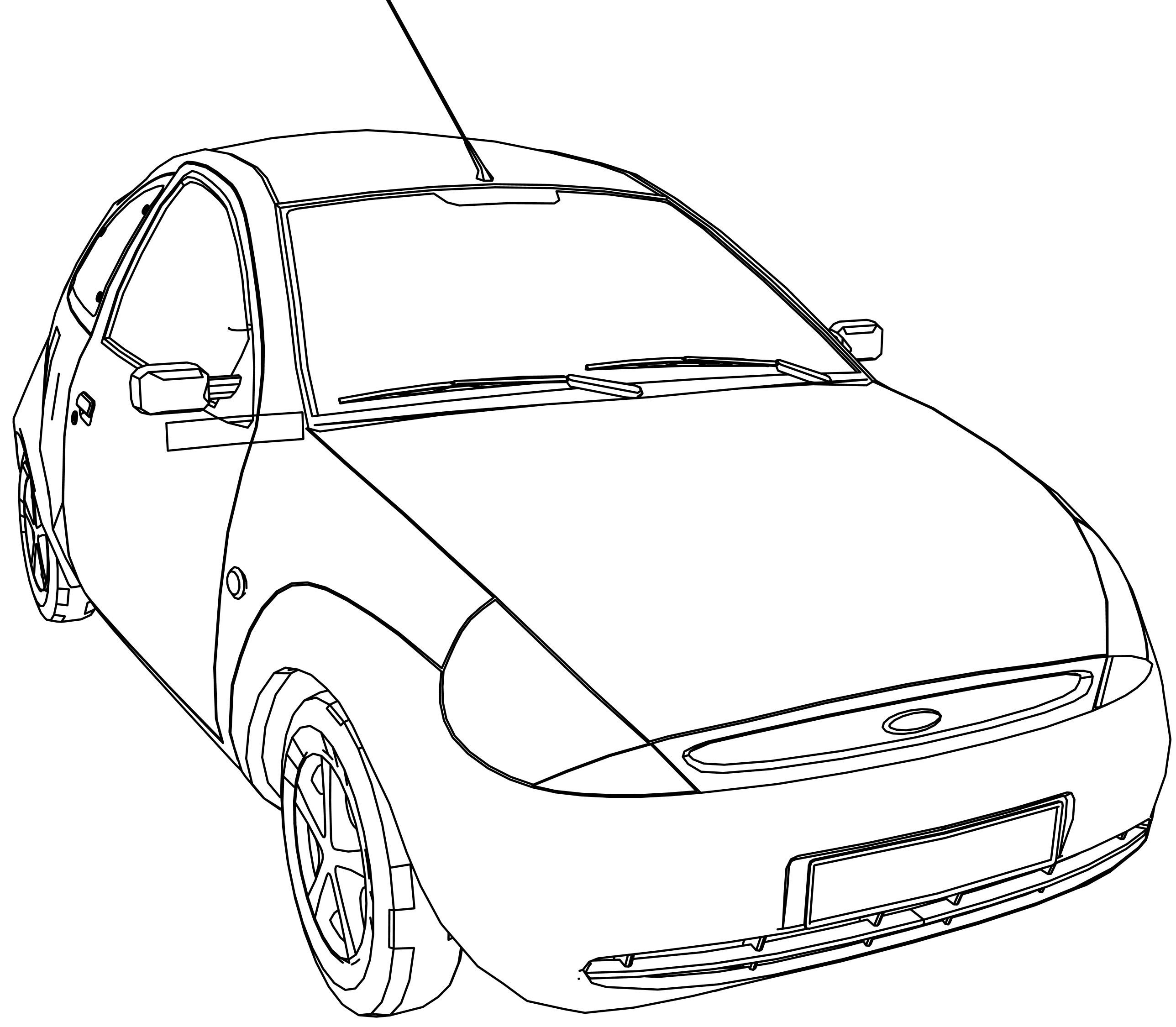 Ford Ka Coloring Page Car
