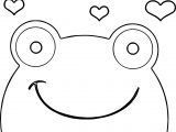 Frog Face Heart Coloring Page