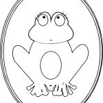 Frog Girl Picture Coloring Page