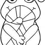 Frog New Year Candy Coloring Page