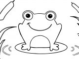 Frog On Leaf Coloring Page