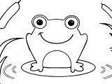 Frog On Leaf Coloring Page
