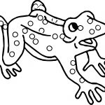 Frog Shock Coloring Page