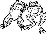 Frogs Fight Coloring Page